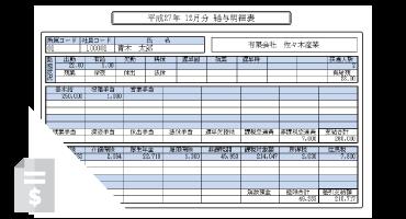 給与管理システム-給与明細表