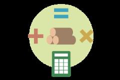 木材販売システム-材積計算機能